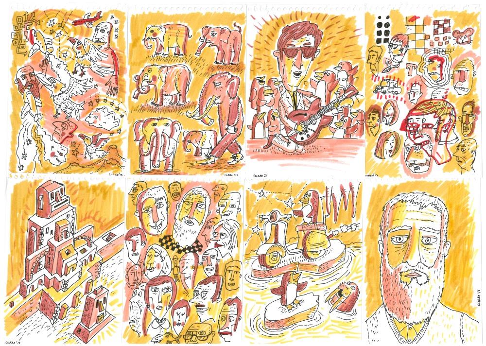 bloc wireo currelismo ilustración madrid